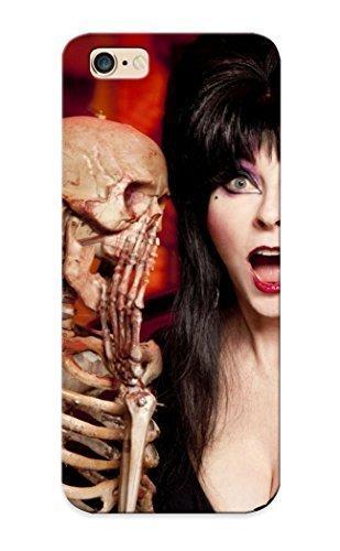 nd Hard Case Cover For Iphone 6 Plus- Elvira Tv Series Show Dark Horror Skeleton Skull Women Actress Models Brunees Sexy Babes Boobs Cleavage Halloween Humor Face Eyes Pov (Elvira Halloween)