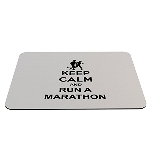 Stylotex Mauspad Keep Calm and run a Marathon - mit textiler Oberfläche (Bell V Buck)