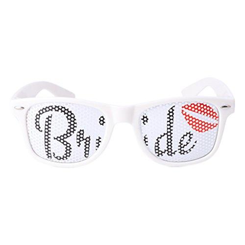 Fogun 1Pc Braut Sonnenbrille Brille , Innovative Plastik Kostüm Brillen für Hen Night Kostümpartys Wedding