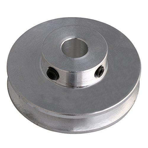 41x16x8 MM Silber Aluminiumlegierung Einzelnut 8 MM Feste Laufrolle für Motorwelle 3-5 MM PU Rundriemen
