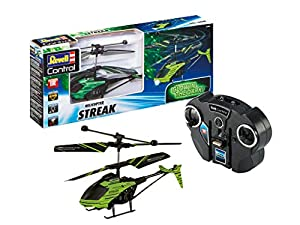 Revell Control- Glow in The Dark Helicopter Streak Juguetes a Control Remoto, Color Negro (23829)