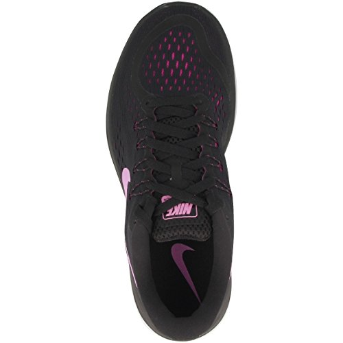 T-shirt Nike M Nk Dry Hybd Hypr Flc Langarm, Herren Black-fuchsia Glow-hyper Magenta (898476-014)