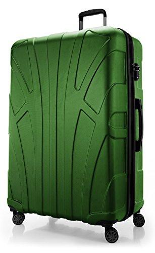 SUITLINE Extra-großer Reisekoffer Hartschalen-Koffer Trolley Rollkoffer, TSA Hand Luggage, 78 cm, 160 liters, Grün