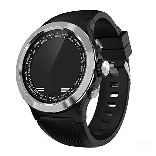 Chic Gadget Smart Watch Vier UI-Schnittstelle Design Intelligent Blutsauerstoff Pulsmesser Armbanduhr ökologisches Silikon Wasserdicht Armband Bluetooth Mach W31 (Black) -