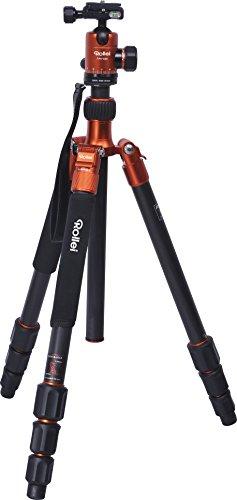 Rollei C5i Stativ, inkl. Kugelkopf, Schnellwechselplatte und Stativtasche, Umbau zum Einbeinstativ möglich - Arca Swiss - Orange