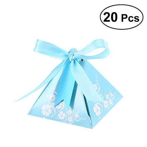 hzeit Gunsten Süßigkeitskästen Pyramide Dreieck Form Brautparty Papier Geschenk-boxen für Hochzeit Begünstigt Geburtstagsgeschenk Dekorationen (blau) ()
