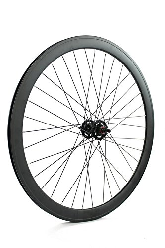 RIDEWILL BIKE Ruota Posteriore Scatto Fisso Pista Profilo 43mm Nero Opaco (Scatto Fisso) / Rear Single Speed Wheel Rim Height 43mm Matt Black (Fixed Wheel)