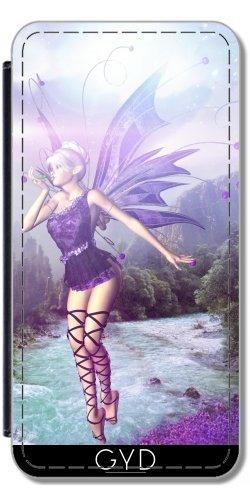 Leder Flip Case Tasche Hülle für Huawei P8 - Gebühr Elf Fantasy Einhorn Magie by (Wood Kostüm Female Elf)