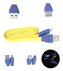 FUSON PREMIUM LIGHTING MICRO USB DATA TRANSFER AND CHARGING DATA CABLE FOR BLACKBERRY Z10 - YELLOW