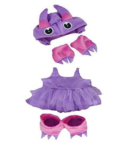 Baue Dein Bears Kleiderschrank 15Zoll Kleider passen Bj Bär Tutu Monster (lila)