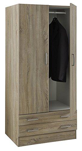 Composad armadio a 2 ante e 2 cassetti colore rovere sonoma