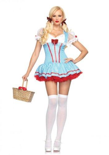Leg Avenue Diva Dorothy Kostüm Blau-Weiß M/L, 1 ()