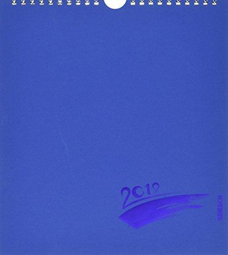 FMB blau Prägung 21,5 x 24 263619 2019: Fotokalender zum Selbstgestalten. Do-it-yourself Kalender mit festem Fotokarton. Edle Folienprägung. Format: 21,5 x 24 cm