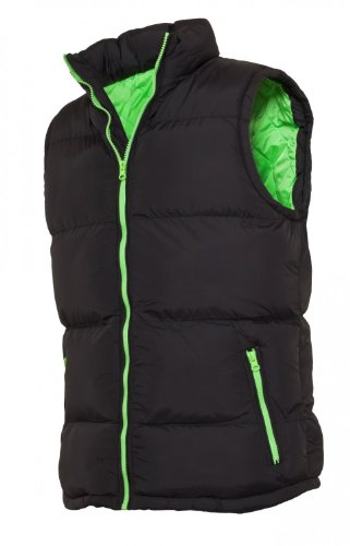Urban Classics Contrast Bubble Vest black (TB299) black/limegreen