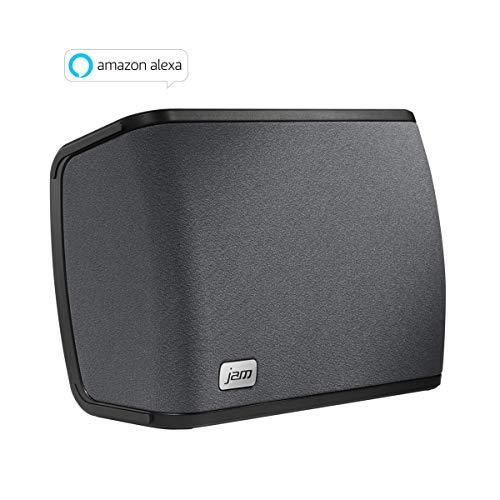 JAM Audio Rhythm kabellose WiFi Lautsprecher mit Alexa Voice - Einzelnd/ Multiroom, 2.1 Stereo Sound, Höhen- und Bass Anpassungen, Streamen der persönlichen Playlists von Spotify etc. mit der JAM App (Lautsprecher Bluetooth Wifi)