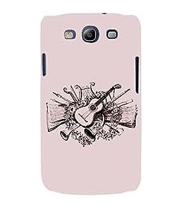PrintVisa Vector Musician Guitar 3D Hard Polycarbonate Designer Back Case Cover for Samsung Galaxy S3 i9300 :: Samsung I9305 Galaxy S III :: Samsung Galaxy S III LTE
