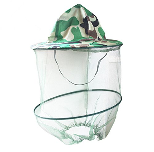Katech Camouflage Beekeeping Hat Beekeeper Anti-mosquito Face Mask Outdoor Fishing and Camping Mosquito Netting Hat Protective Equipment 1