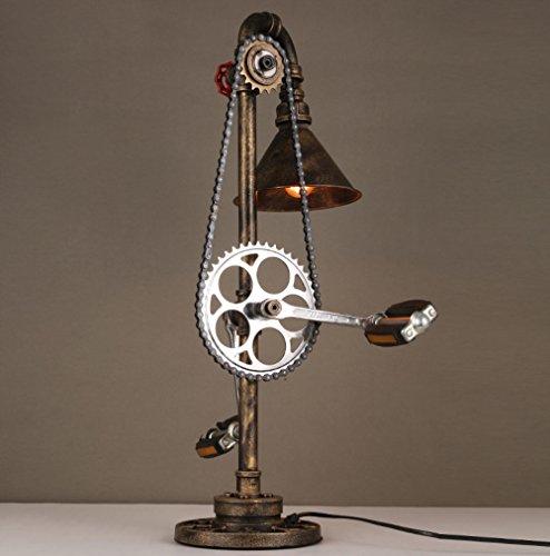 Économie d'énergie Protection des yeux --- tuyau de chaîne en métal de style industriel Fer Vintage créatif salon lampe étude restaurant lampe chambre chevet de la personnalité --- (Ne pas inclure la source lumineuse)