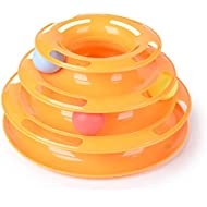 DDLBiZ The New Three Layers Pet Toys Intelligence Crazy Play Tray Cat Play