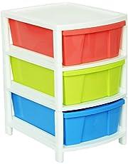 Aristo Multipurpose 3 Drawer Plastic Modular Chest Storage Organizer