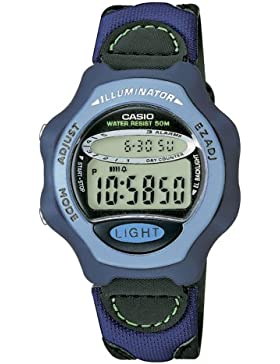 Casio Collection – Damen-Armbanduhr mit Digital-Display und Synthetikleder-Textil-Armband – LW-24HB-6AVES