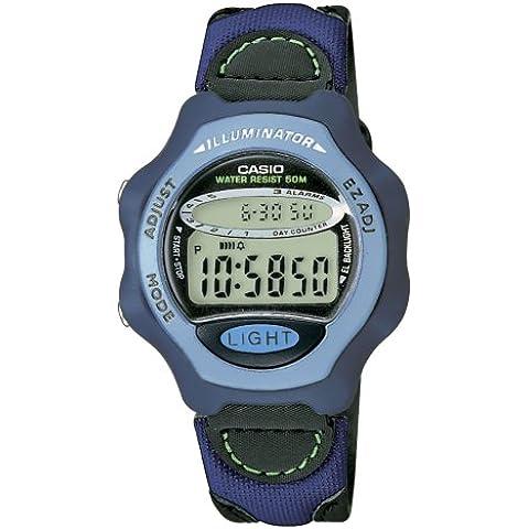 CASIO Collection LW-24HB-6AVES - Reloj de mujer de cuarzo, correa de textil color azul claro (con alarma,