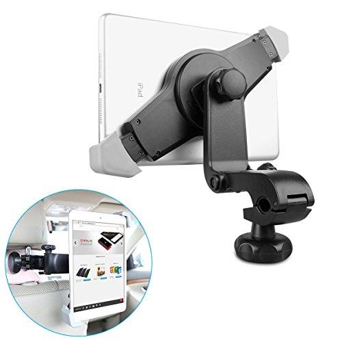 Tablet Kopfstützenhalter EC Technology 360 Drehbar Kopfstütze KFZ / Autohalterung für iPad Pro, iPad 4 / 3 / 2, iPad Air, iPad Mini - Samsung Galaxy Tab 3 / 2, Galaxy Note, und Andere 7' bis 10' Tablets - Schwarz