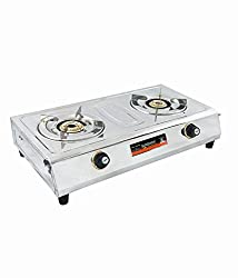 Sunshine Double Burner VS 2 Stainless Steel Manual Gas Stove