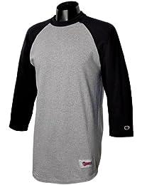 Champion - T-shirt de sport - Manches 3/4 - Homme multicolore Gris (Oxford Gray / Black)