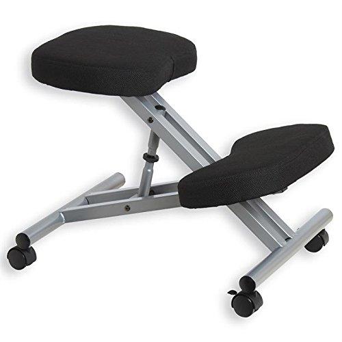 Tabouret ergonomique ROBERT aluminium/noir
