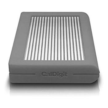 CalDigit – Disco Duro Externo de 2 TB, Resistente, USB 3.1 de Tipo C, Color Gris, de 2,5 Pulgadas (6,35 cm)