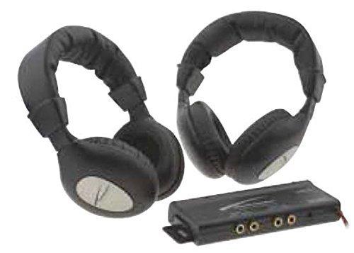 Audiobahn AVH900 900 MHZ Stereo Headphones with Transmitter Audiobahn Stereo
