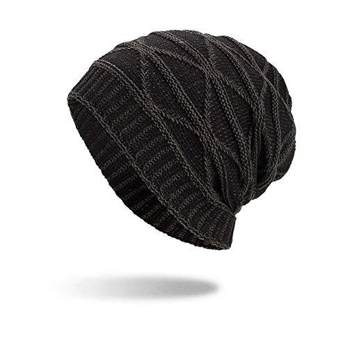 iHENGH Street Classics Strickmützen Feste Farbe LäSsige Schal-Stirnband Mode Solid Muffler Kopfbedeckung Cap Sleeve Cap
