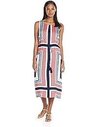Tribal womens585O-2097Florentine Tile Printed Dress Sleeveless Dress
