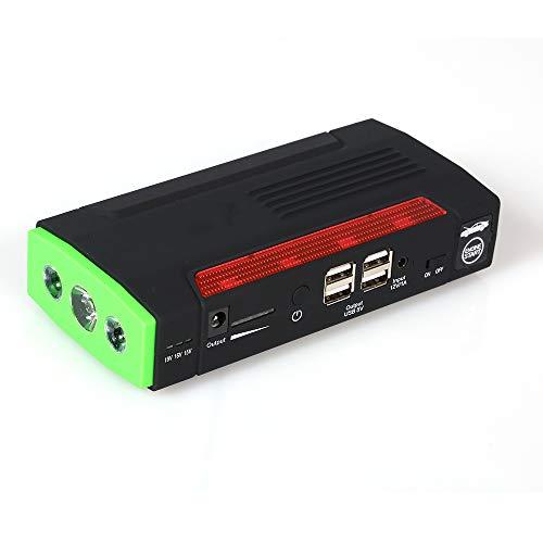 HUIGE Portable De Saut De Voiture De Démarrage 400A Peak 9000Mah, Emergency Battery Booster Pack Conçu, Power Bank avec Lampe De Poche LED Et Port USB Chargeur