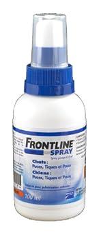 Frontline spray 100 ml anti puces et anti tiques chien et chat de moins de 5 kg et dès la naissance