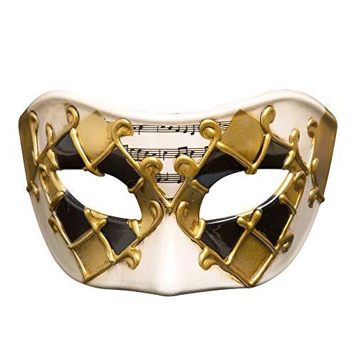 TUWEN Halloween Maske Venezianische Partei Halbe Gesichtsmaske Halloween Maskerade Maske KostüM Requisiten Kunststoff