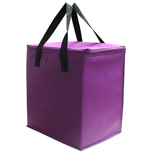 lila licht gewobenen kühlung handtasche einfach unter lebensmittel - tasche 91 billig frisches eis bag w / folie isolieren lila