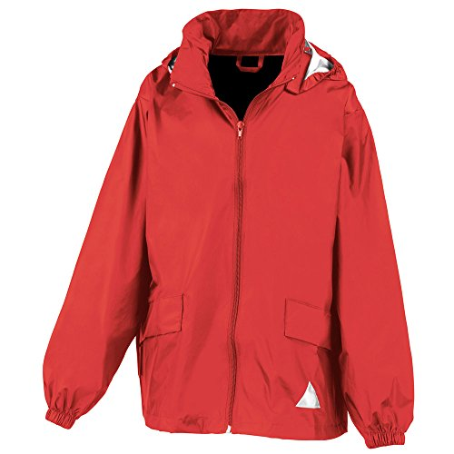 Result Childrens Windcheater Jacket In A Bag red
