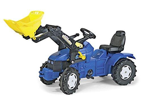 *Tretbulldog Spielzeug Traktor Kinder Traktor mit Frontlader Aufsatz*