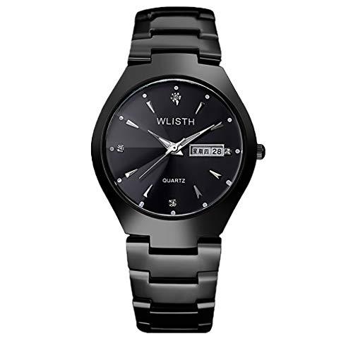 Lazzgirl Luxusuhren Quarzuhr Edelstahl Zifferblatt Casual Bracele Uhr(A,One Size)