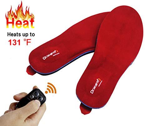 Dr.Warm Beheizbare Einlegesohlen Thermosohlen mit Intelligentem Drahtlose Fernbedienung, USB Wiederaufladbar Schuheinlagen für Skifahren Wandern Angeln Unisex...