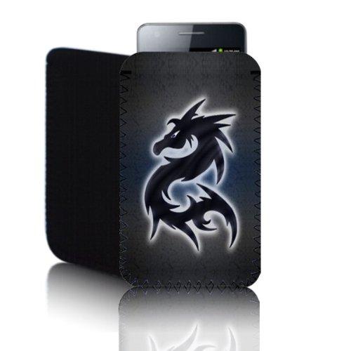 Biz-E-Bee Phonecase Exclusif 'Dragon' Gris moucheté Blackberry Curve 8520(S) résistant aux chocs en néoprène pour Téléphone portable, Housse, Pochette
