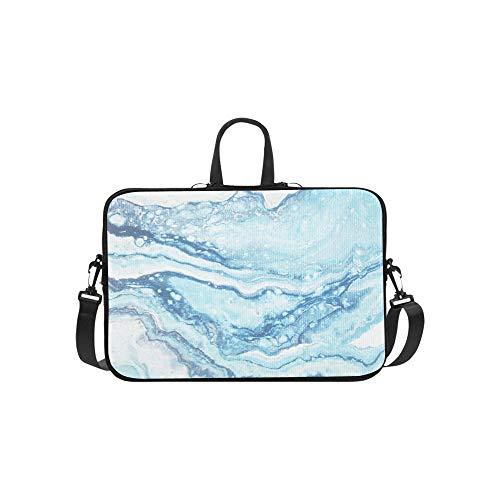 Blauer Marmor Kreative Abstrakte Muster Aktentasche Laptoptasche Messenger Schulter Arbeitstasche Crossbody Handtasche Für Geschäftsreisen - Kobalt-boden