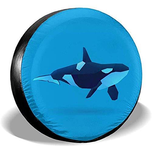 WCHAO Copriruota Orca Potabile in Poliestere Universale Ruota di scorta Copriruota per Je-EP RV SUV Rimorchio Autocarro Cam