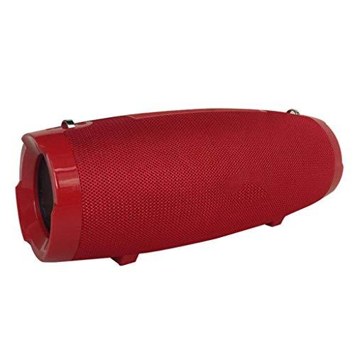 Jamicy Tragbarer Bluetooth-Funklautsprecher Wasserdichter Stereo-Sound Ultra Bass-Subwoofer (Rot)