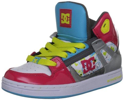 DC Rebound Youth Shoe, Scarpe da Skateboard bambini, Rosso (Lampone), 37,5