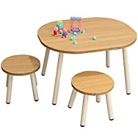 YIJIAHUI-Home Kids Desk and Chair Set Wooden Activity Table Chair Learning Activity Table Baby Play Table Toy Infant Activity Tables Kids Dining Table Desk Chair Kids Interactive Workstation
