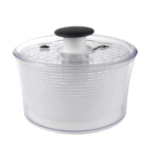 oxo-1351580v2mlnyk-essoreuse-a-salade-acier-inoxydable-polypropylene-san-tpe-transparent-blanc-2667-