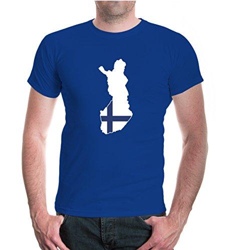 buXsbaum® T-Shirt Finnland-Shape Royal-z-direct